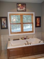 Modern master bath remodeling